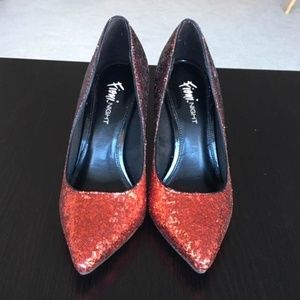 Fioni red heels size 5 1/2